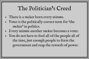 Politicians Creed